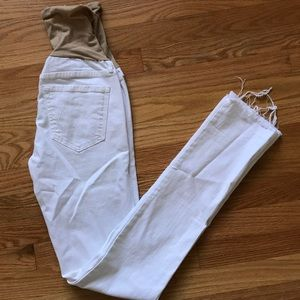 Mother maternity white Jeans